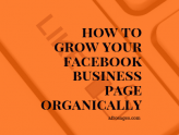 How Do I Grow My Facebook Business Page Organically?