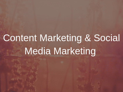 What are content marketing and social media marketing and their difference?