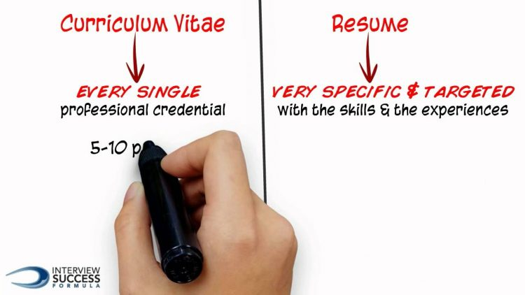 curriculum vitae vs resume are there differences jobhouse