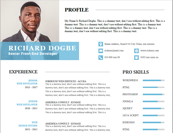 how this résumé template got me 3 jobs in ghana within 2 weeks